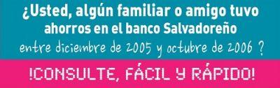 Si usted tuvo ahorros en el banco Salvadoreño (ahora Davivienda), consulte si tiene devolución