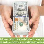 Cargos y comisiones por pagos anticipados son ilegales