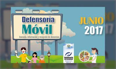 Programación de la Defensoría móvil mes de junio